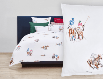 "Christian Fischbacher ""Chukka"" Satin Bed Linen"