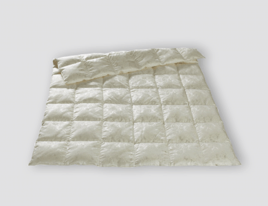 Christian Fischbacher Lugano lightweight down comforter, silk paisley jacquard