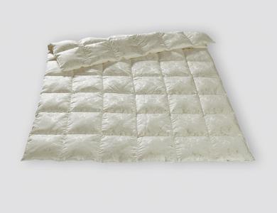Christian Fischbacher Basel lightweight All-Year down comforter, silk paisley jacquard