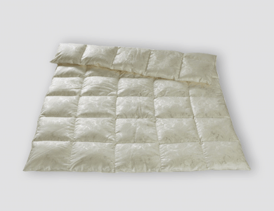 Christian Fischbacher Luzern All-Year down comforter, silk paisley jacquard