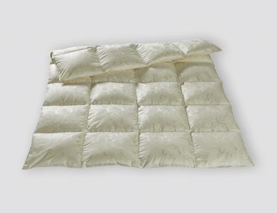 Christian Fischbacher Zermatt Winter down comforter, silk paisley jacquard