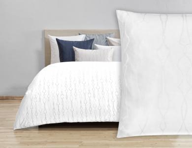 Fischbacher Jacquard Duvet Cover Set Artemis white