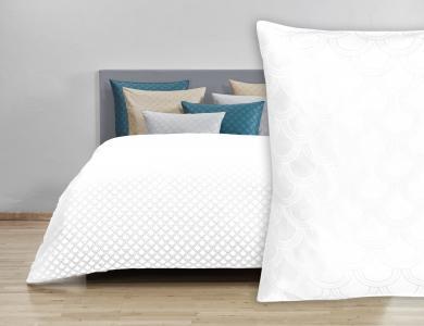 Christian Fischbacher Jacquard Duvet Cover Set Belle Epoque light white