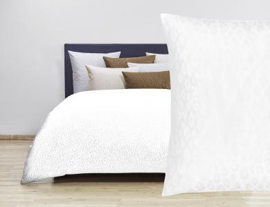 Christian Fischbacher Jacquard Duvet Cover Set Felino white