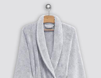 Christian Fischbacher terry bathrobe Cocoon silver