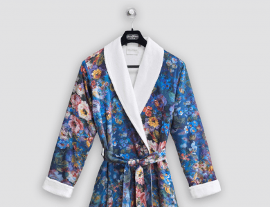 """Christian Fischbacher terry bathrobe """"Florence"""" with shawl collar"""