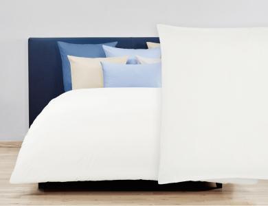 Christian Fischbacher Satin Duvet Cover Set - Pearl white 307