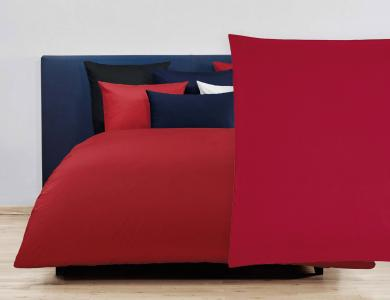 Christian Fischbacher Satin Duvet Cover Set - Red 292