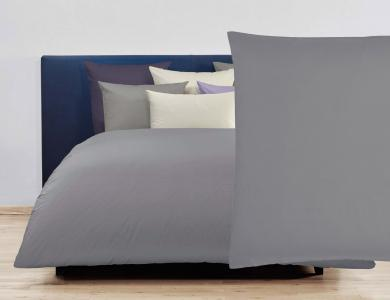Christian Fischbacher Satin Duvet Cover Set - Dark gray 225