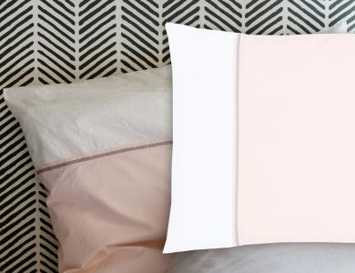 """Blind Date"" percal bedding CF by Christian Fischbacher, Rose Water"