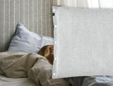 """Make my Day""  linen bedding CF by Christian Fischbacher, Silvermoon"