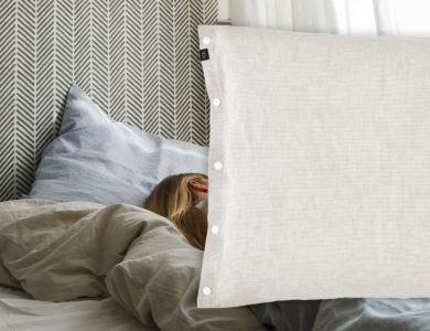 """Make my Day""  linen bedding CF by Christian Fischbacher, Oatmeal"