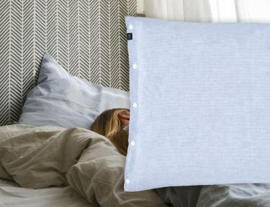 """Make my Day""  linen bedding CF by Christian Fischbacher, Morning Sky"