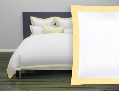"""Christian Fischbacher Bed Linen """"Color Frame"""" Satin light yellow"""