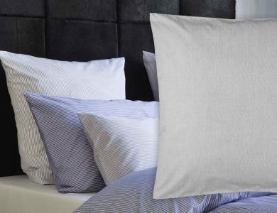 Christian Fischbacher Bed Linen Fil a Fil heather gray plain color