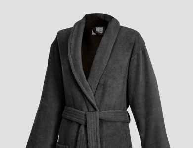 Terry bathrobe with shawl collar for women and men anthrazit