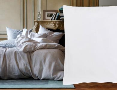 """Purolino"" linen bedding Christian Fischbacher, white"