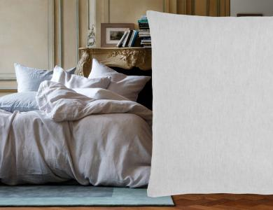 """Purolino"" linen bedding Christian Fischbacher, light gray"