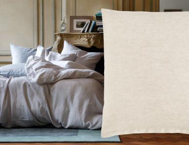 """Purolino"" linen bedding Christian Fischbacher, creme"