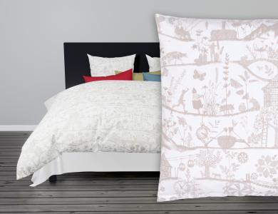 Lumnezia Satin Bed Linen, white
