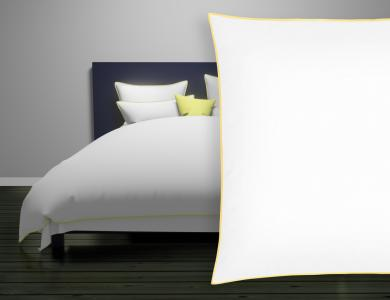 "Christian Fischbacher Satin Duvet Cover ""New Selection"" light yellow"