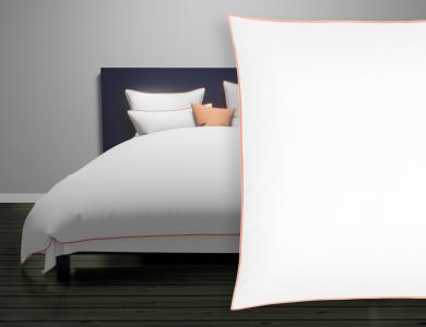 "Christian Fischbacher Satin Duvet Cover ""New Selection"" peach"