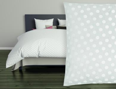 Christian Fischbacher Jacquard Duvet Cover Set Polka mint