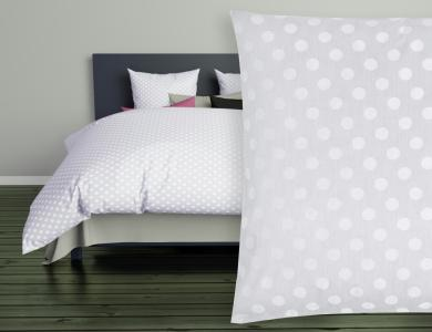 Christian Fischbacher Jacquard Duvet Cover Set Polka gray