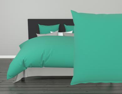 Christian Fischbacher Satin Duvet Cover Set - Turquoise 279