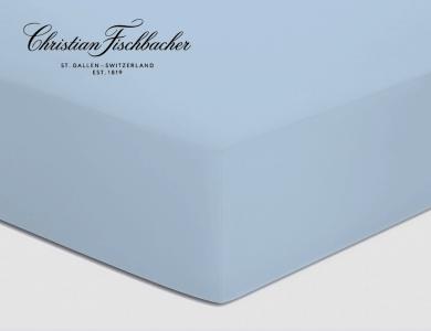 Christian Fischbacher fitted sheet Satin - Ciel 841