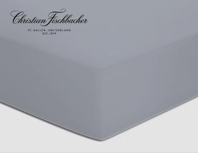 Christian Fischbacher fitted sheet Satin - Gray 025