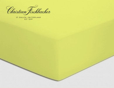 Christian Fischbacher fitted sheet Satin - yellow 013