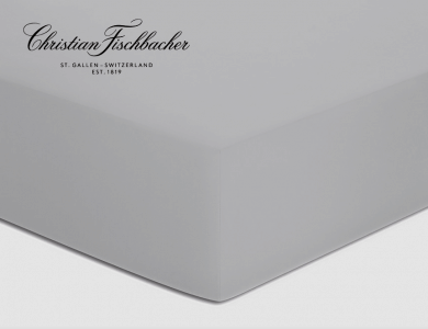 Christian Fischbacher fitted sheet Satin - Light gray 305
