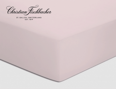 Christian Fischbacher fitted sheet Satin - Light pink 828