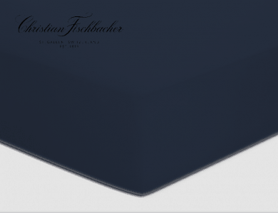 Christian Fischbacher fitted sheet Jersey - Navy 861