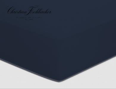 Christian Fischbacher fitted sheet Satin - Dark blue 861