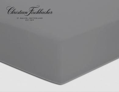 Christian Fischbacher fitted sheet Satin - Dark gray 225