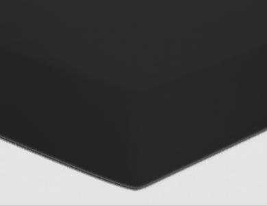 Christian Fischbacher fitted sheet Satin - Black 006