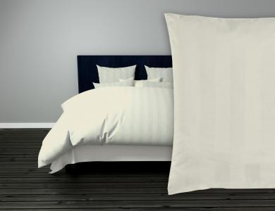 Duvet Cover Set Satin Classic wide Stripes - Off-white