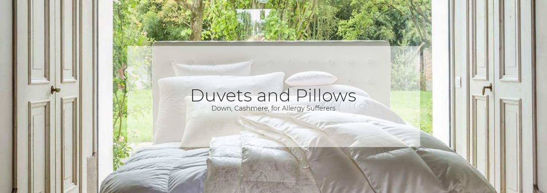 Bettdeckn und Kissen