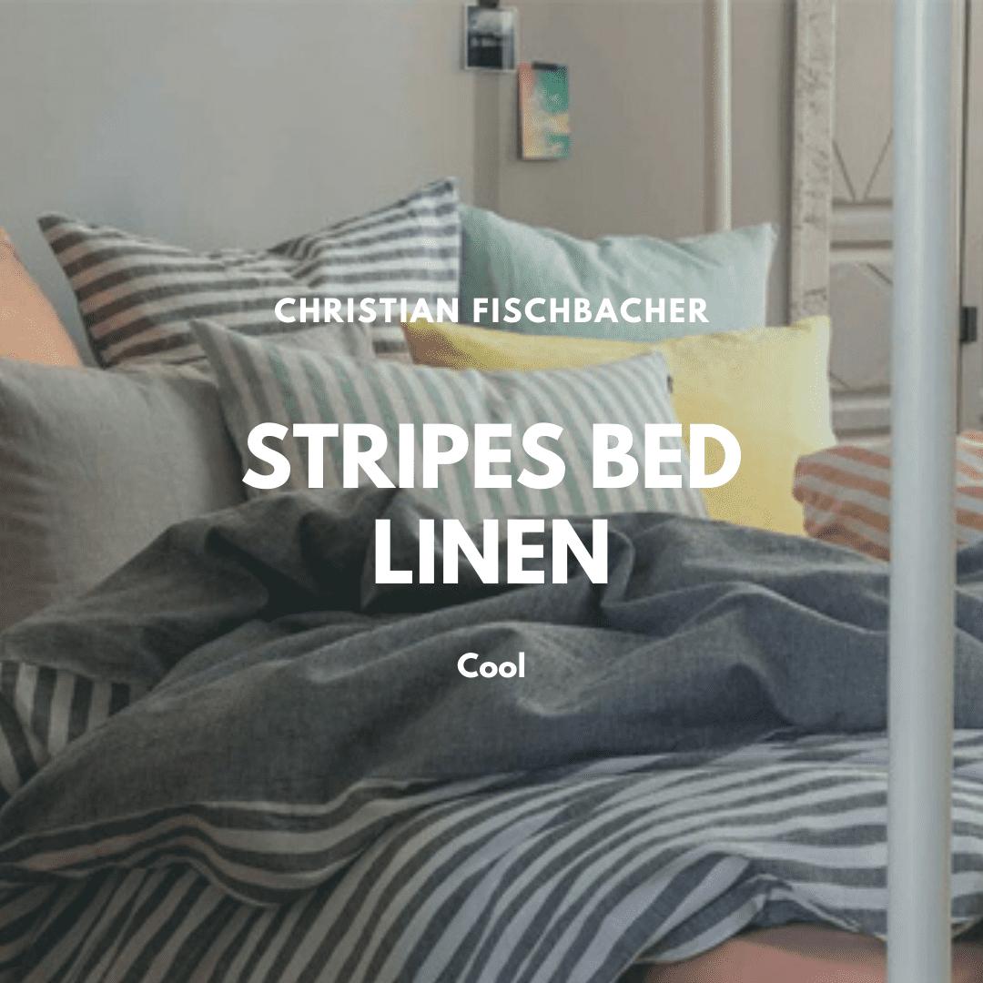 strips bed linen from Christian Fischbacher