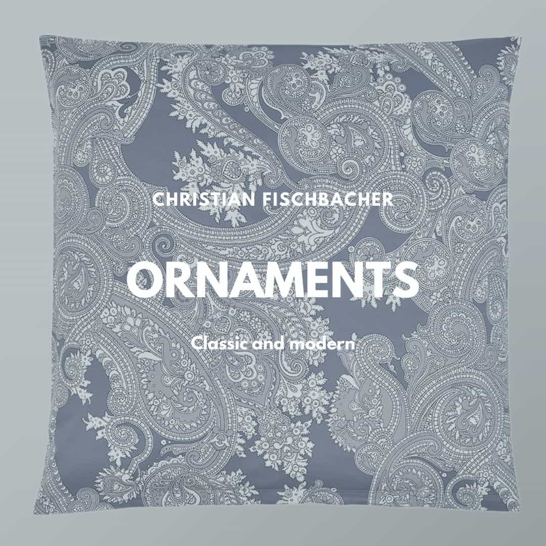 ornaments bed linen froma Christian Fischbacher