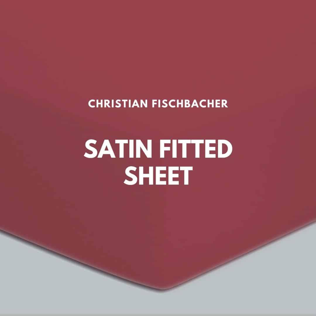 Fischbacher satin fitted sheet